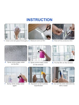 "Uiter One Way Window Film - Anti UV Static Cling Window Film 100% Light Blocking For Privacy Removal Decorate Heat Control Glass Tint Home Office Windows. ( 17.5'' x 78.7"", Silver)"
